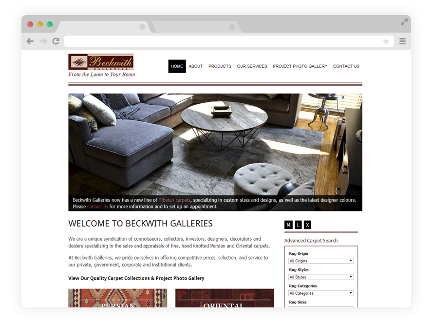 Beckwith Galleries | Rug Retailer